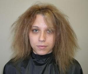 Huonokuntoinen tukka